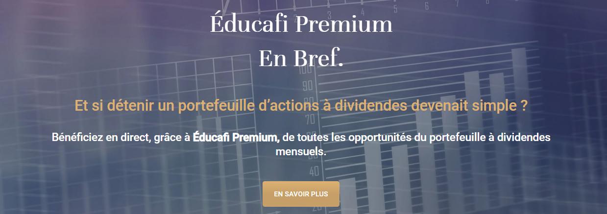 Bannière Éducafi Premium